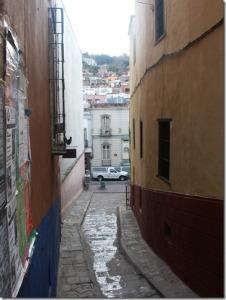 Alley in Guanajuato, Mexico