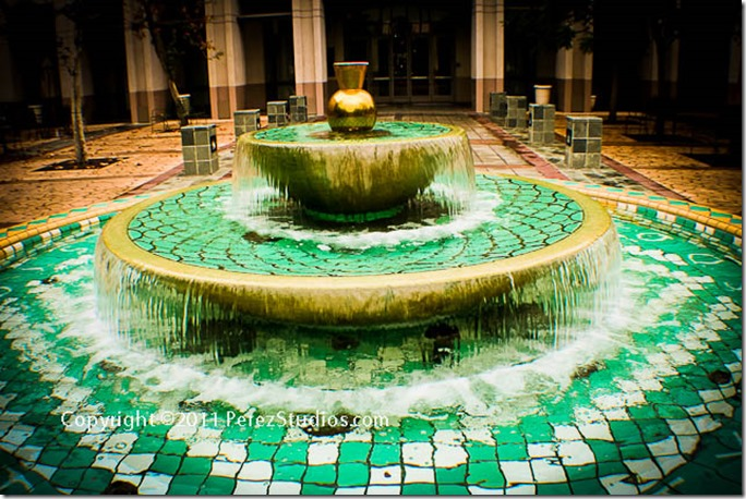 Los Angeles Train Station Fountain