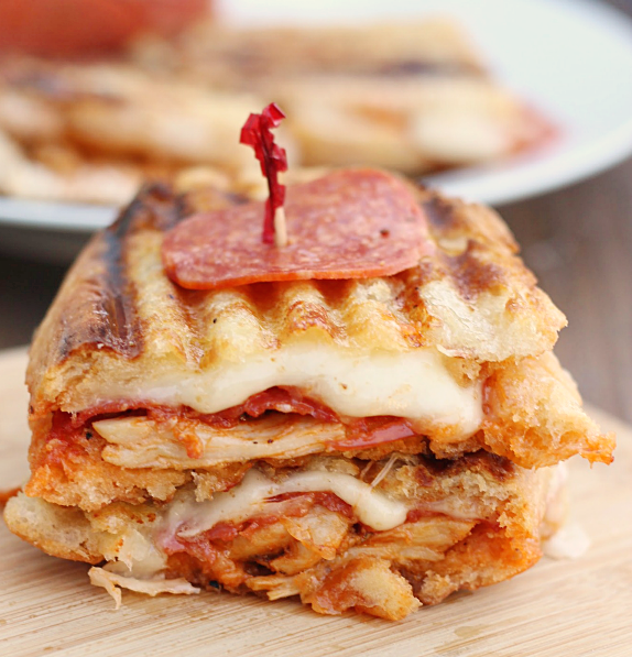 Chicken Pepperoni Parmesan Sandwich