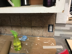Backsplash Tile Installed