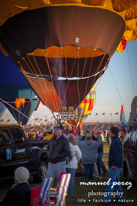 Hot Air Balloons Filling Up