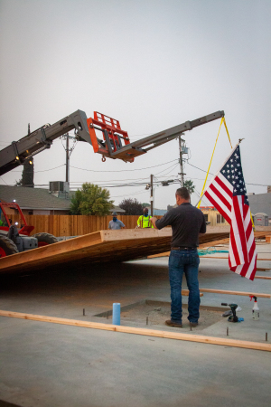 New VFW Wall Going Up